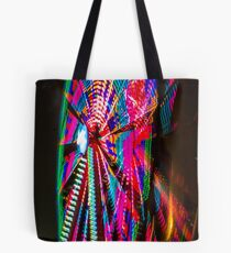 Colorful Ferris Wheel At Night Tote Bag