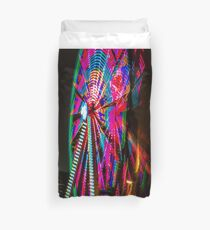 Colorful Ferris Wheel At Night Duvet Cover