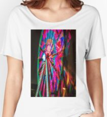 Colorful Ferris Wheel At Night Relaxed Fit T-Shirt