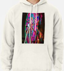 Colorful Ferris Wheel At Night Pullover Hoodie