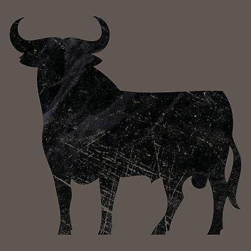 Spanish Ultra-Vintage Bull by Lidra