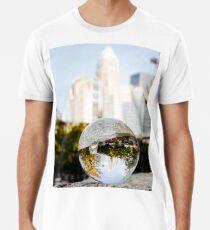Skyline of Charlotte North Carolina  Premium T-Shirt