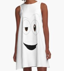 Funny Smiley A-Line Dress