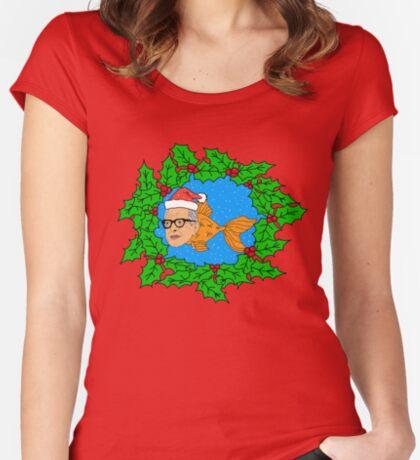 Festive Jeff Goldfish Women's Fitted Scoop T-Shirt