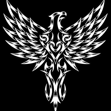 Phoenix in black and white by Skullz23
