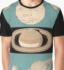 Vintage Planetary Size Comparison Chart (1869) Graphic T-Shirt