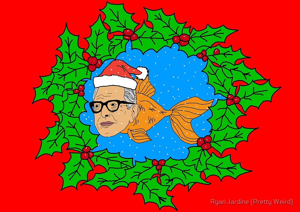 Festive Jeff Goldfish by Ryan Jardine (Pretty Weird)