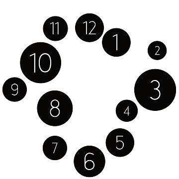 Circles in chaos - wall clock by knappidesign