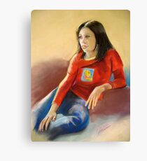 Pastel Portrait of Hannah Canvas Print