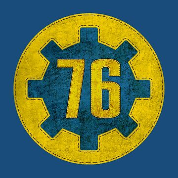 Vault 76 - Fallout Gift - Vault Number - Gear - Distressed - Vintage Style by WishingInkwell