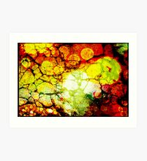 Green Leaf Abstract Texture Art Print