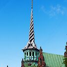 The Dragon Spire Borsen Building Copenhagen Denmark by Mark Baldwyn