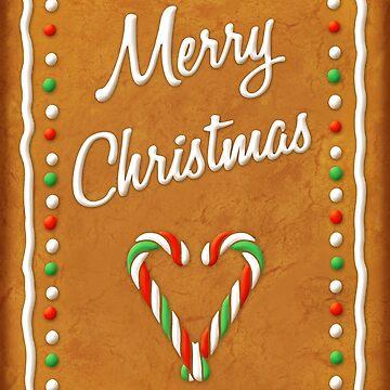 Gingerbread Merry Christmas Biscuit by ikerpazstudio