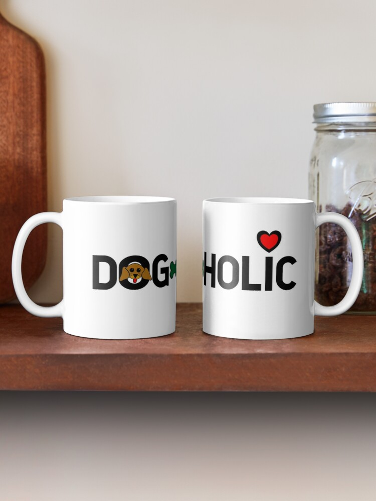 Alternate view of Dogaholic Mug