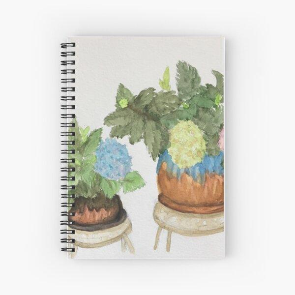 Potted Hydrangeas Spiral Notebook