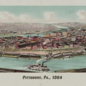 Vintage Pictorial Map of Pittsburgh PA (1904) by BravuraMedia