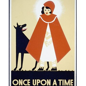 ONCE UPON A TIME. RED RIDING HOOD AND THE WOLF by deborahsmith
