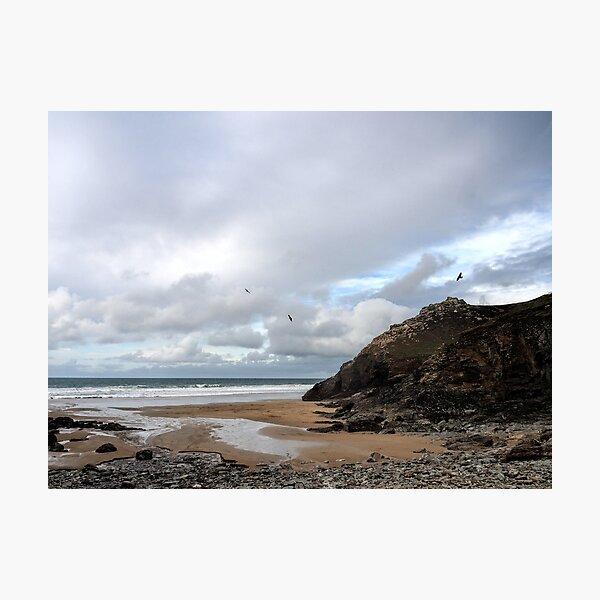 Chapel Porth Beach. Cornwall UK Photographic Print