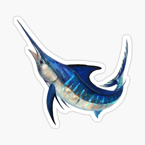 Jumping Marlin Sticker
