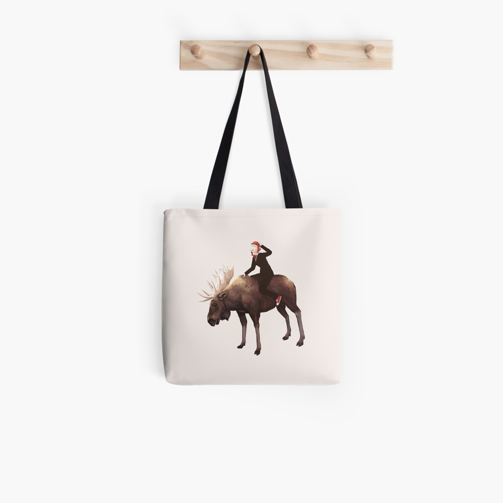 Mod Moose   Digital Illustration Tote Bag