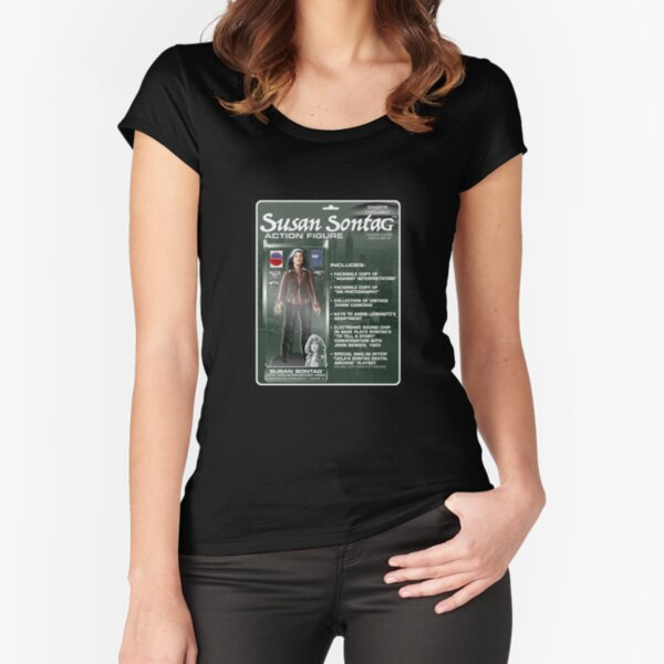 Susan Sontag Action Figure Fitted Scoop T-Shirt