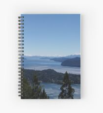 Paradisiacal view of Patagonia Spiral Notebook