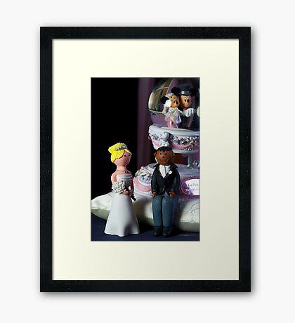 Happy Wedding Couple Framed Print