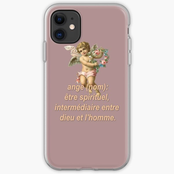 Aesthetic and Stylish Angel Definition Print iPhone Soft Case