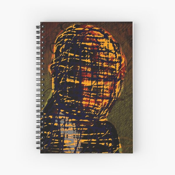 MAN IN THE BURBERRY MASK Spiral Notebook