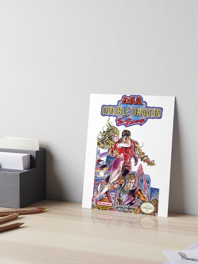 Double Dragon Ii Nintendo Japan Art Board Print By Icepatrol Redbubble