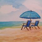 Patti's Beach Chairs WC20180328a by Cyndi Steen