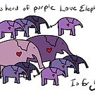 Herd of Purple Love Elephants by Beth A.  Richardson