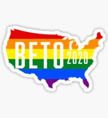 Beto 2020 LGBT Rainbow Design: Beto O'Rourke For President Sticker