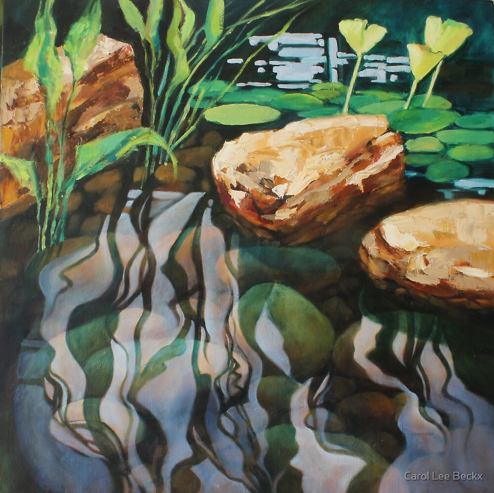 Pond Reflections by Carol Lee Beckx