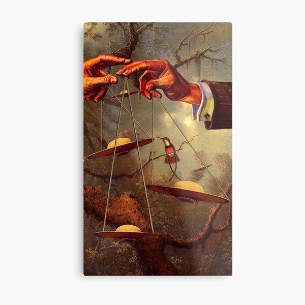 OTHERWORLDLY PLANES⠀ Metal Print