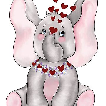 I love elephants by redqueenself