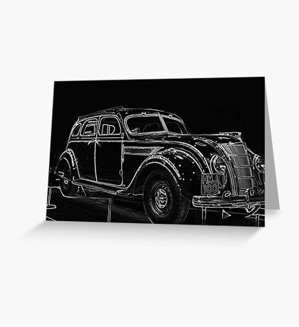 Old Car (Standard Eight) Greeting Card