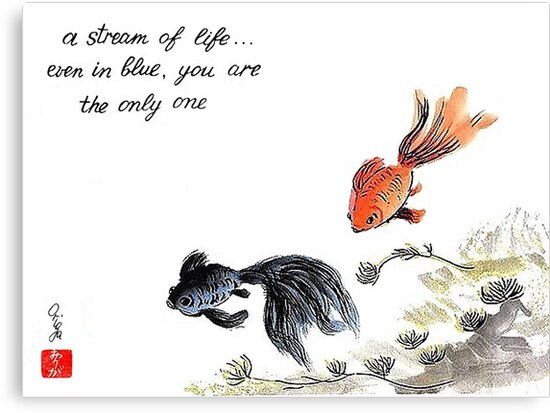 A stream of Life ... Haiga by Origa