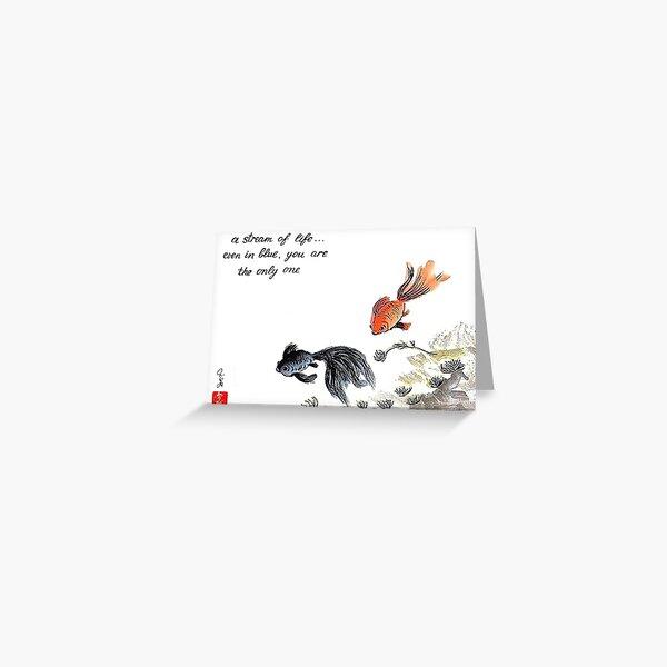 A stream of Life ... Haiga Greeting Card