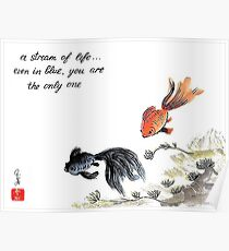 A stream of Life ... Haiga Poster