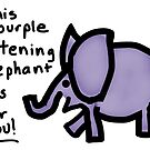 Purple Listening Elephant by Beth A.  Richardson