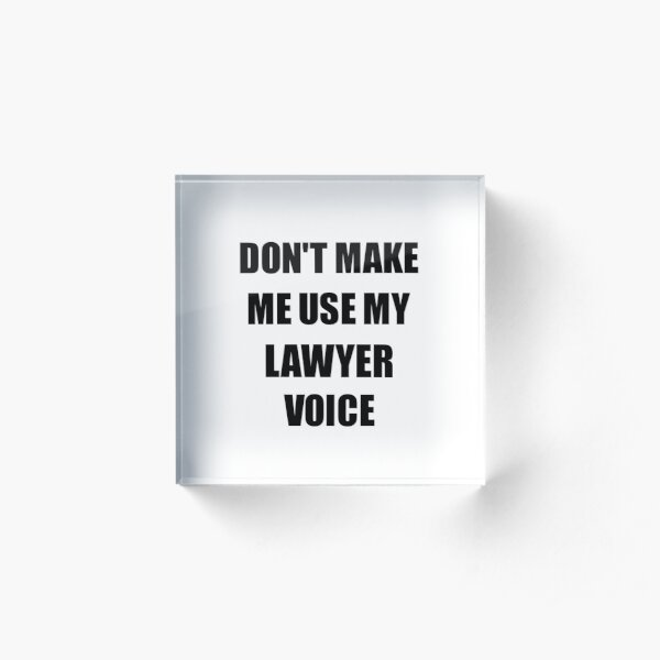 Lawyer Gift for Coworkers Funny Present Idea Acrylic Block