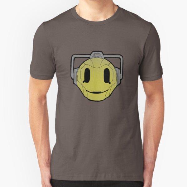 cyberman smiley Slim Fit T-Shirt
