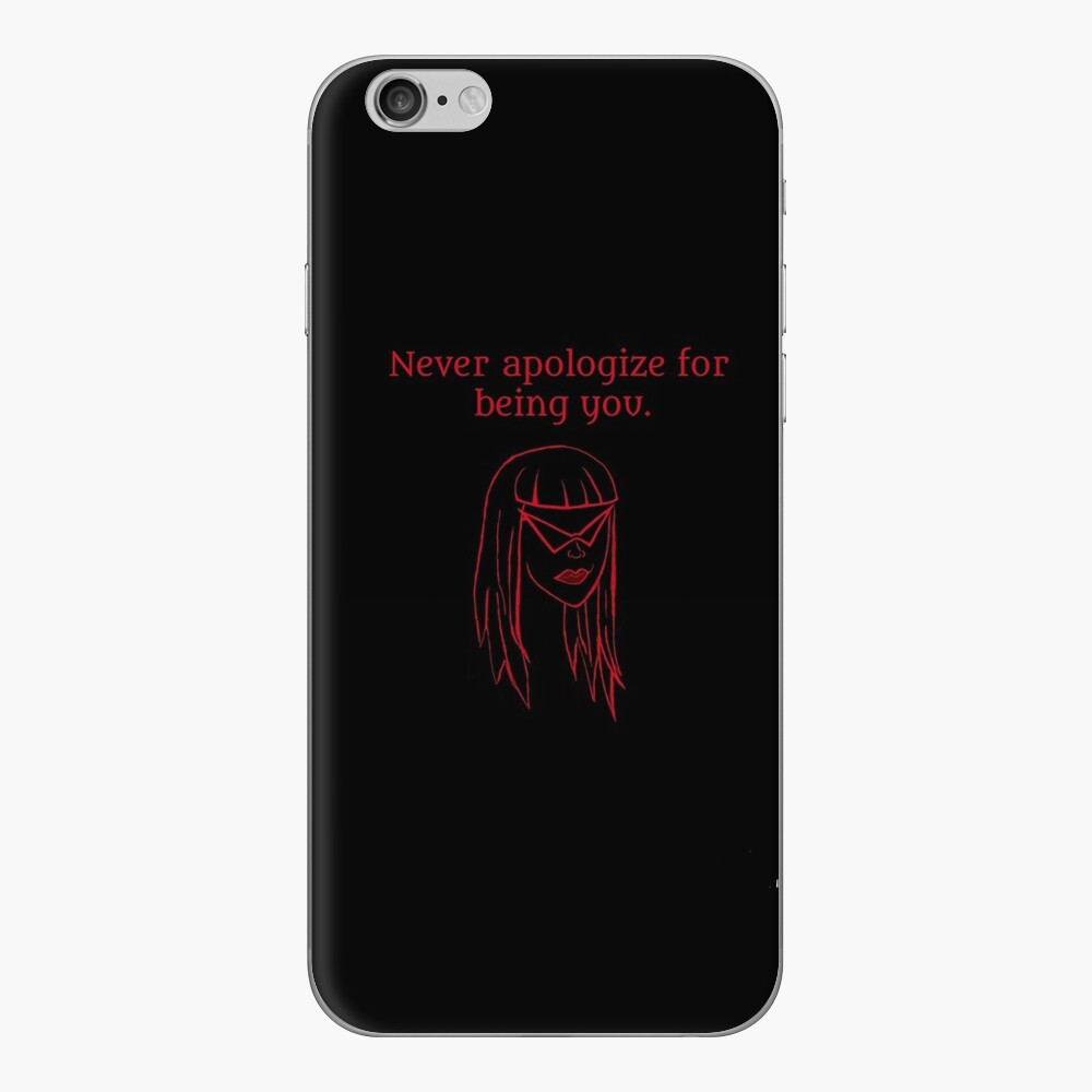 Never Apologize iPhone Skin