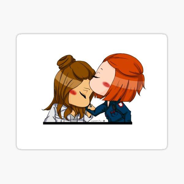 Forehead Kiss Sticker