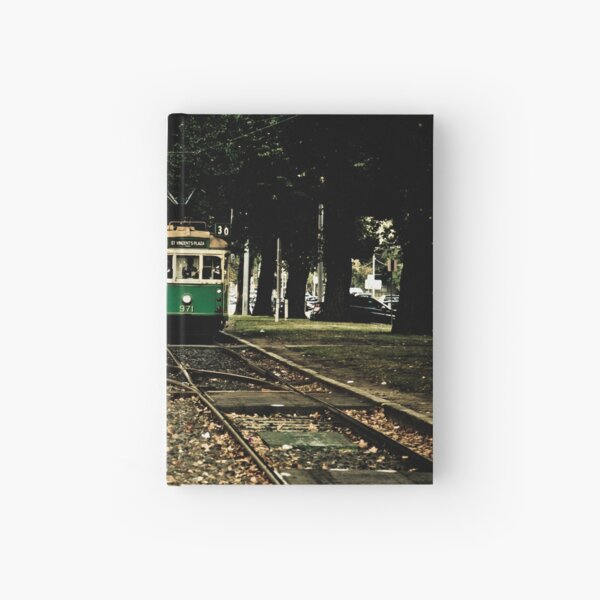 Melbourne tram Hardcover Journal