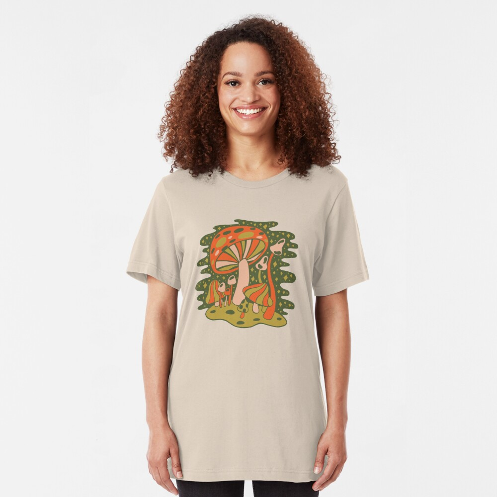 Forest of Mushrooms Slim Fit T-Shirt