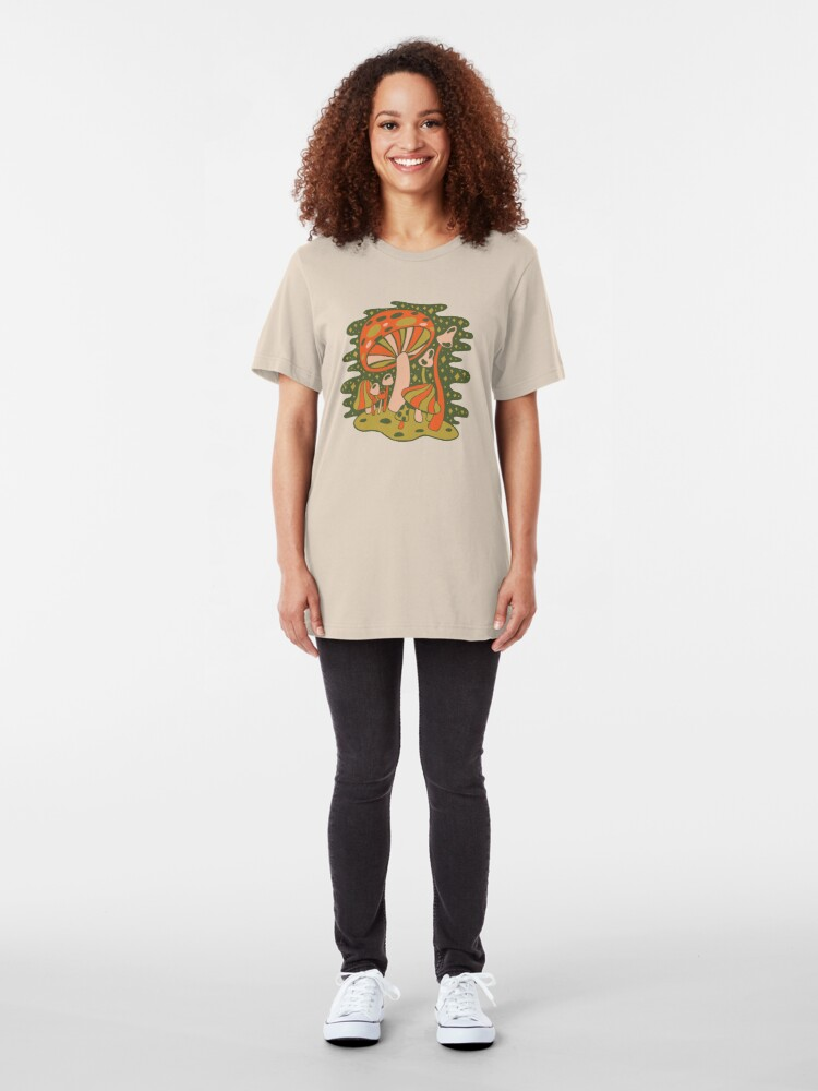 Alternate view of Forest of Mushrooms Slim Fit T-Shirt