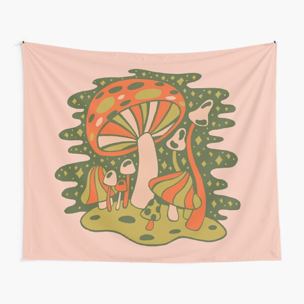 Forest of Mushrooms Tapestry