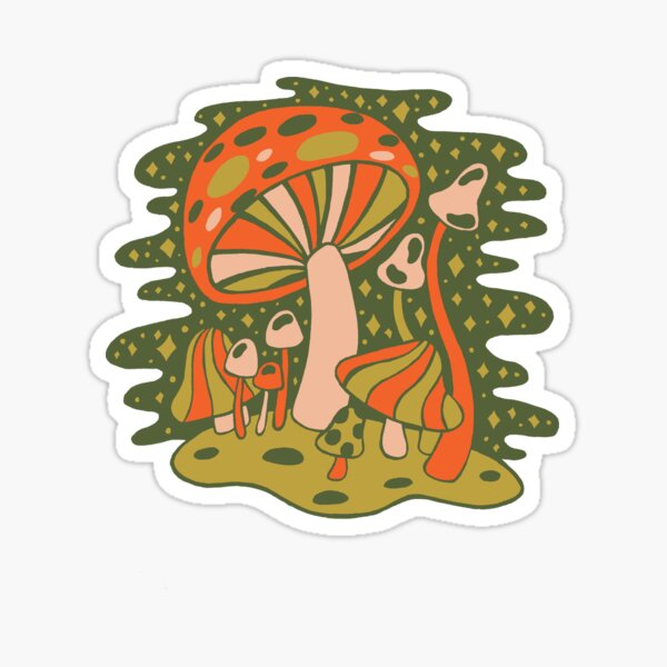 Forest of Mushrooms Sticker